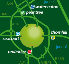 oxford park and ride map key